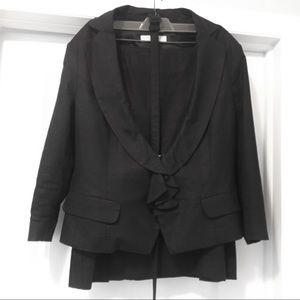 NY & Co Black Linen Suit
